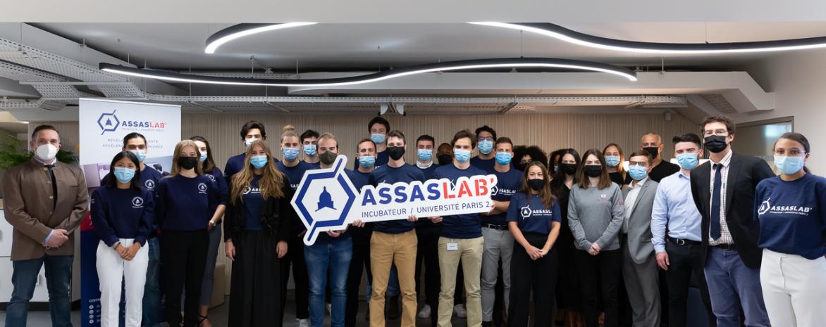 Promotions 2020 et 2021 des incubés Assas Lab'