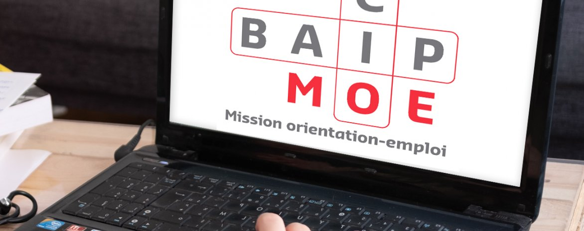 Visuel avec ordinateur et logo du CIO-BAIP