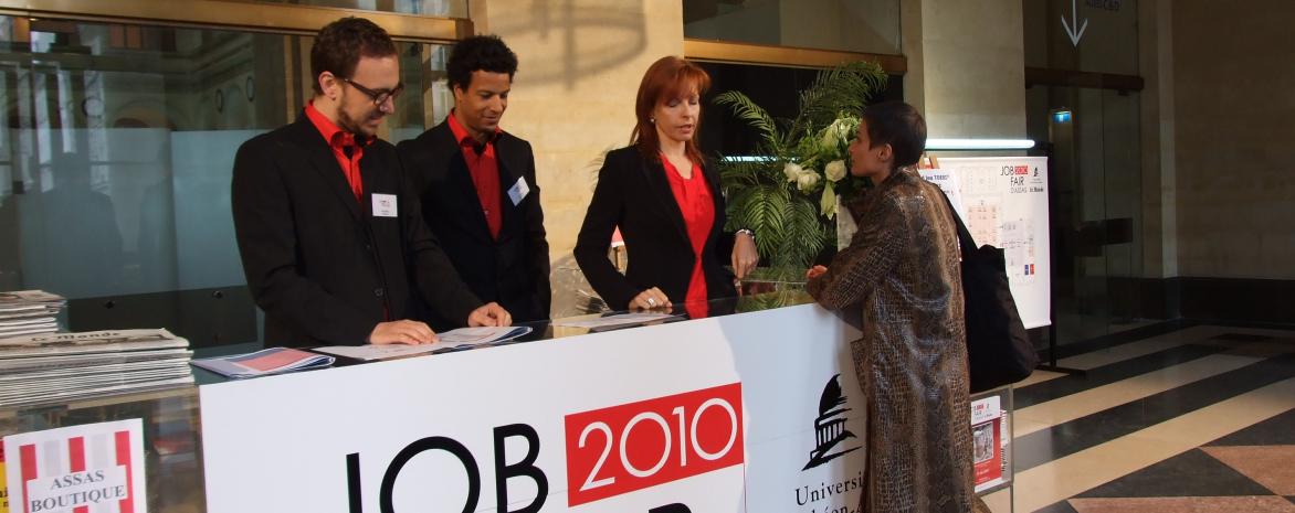 2010 Job fair au Palais Brongniart en partenariat avec le Monde